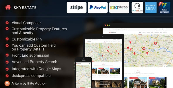 Themeforest Skyestate v1.2.6 - Real Estate with Front end Submission