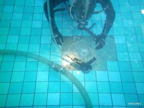 Tegelreparatie onderwater