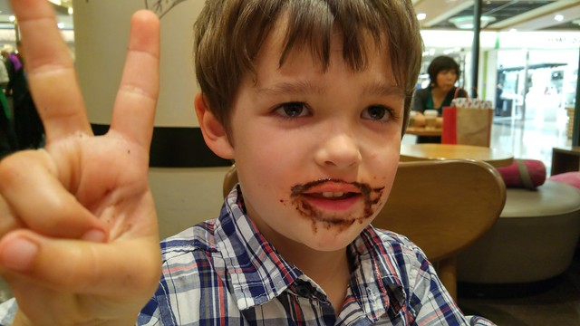 Happiness is a chocolate goatee