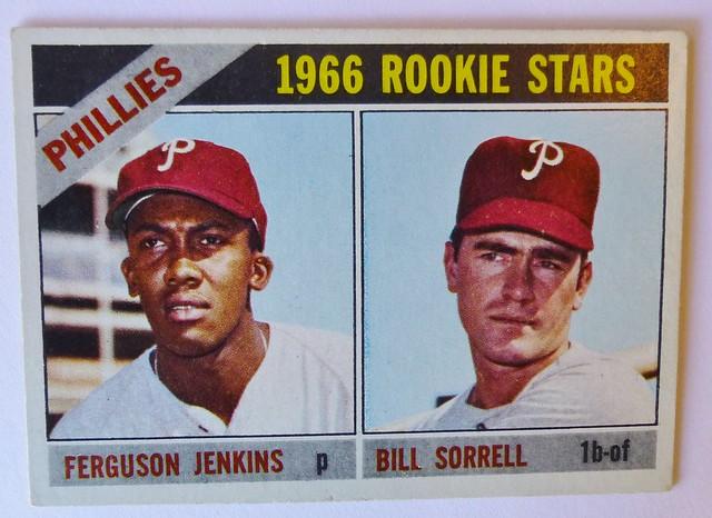 1966 ROOKIE STARS FERGUSON JENKINS BILL SORRELL PHILADELPHIA PHILLIES