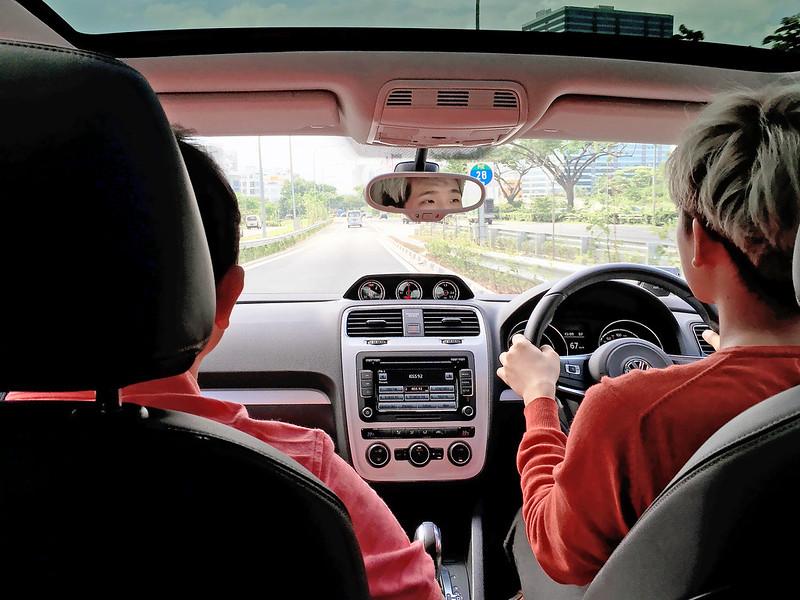 typicalben driving Volkswagen