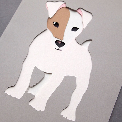 Jack Russell Dog Papercut