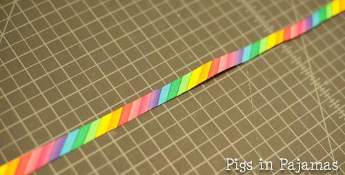 Rainbow bias tape