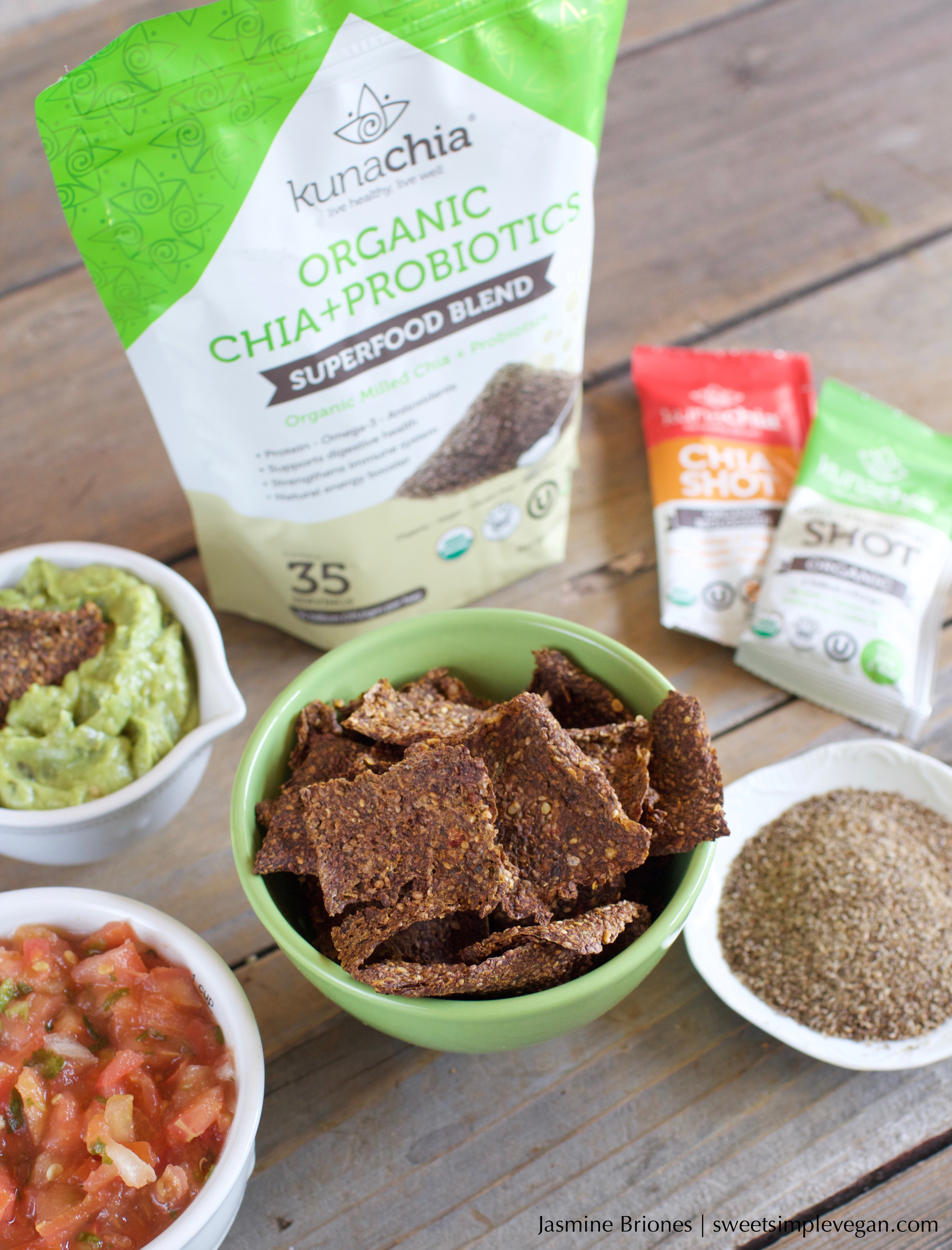 Oven-Baked Chia Veggie Crackers {gluten & oil-free} sweetsimplevegan.com