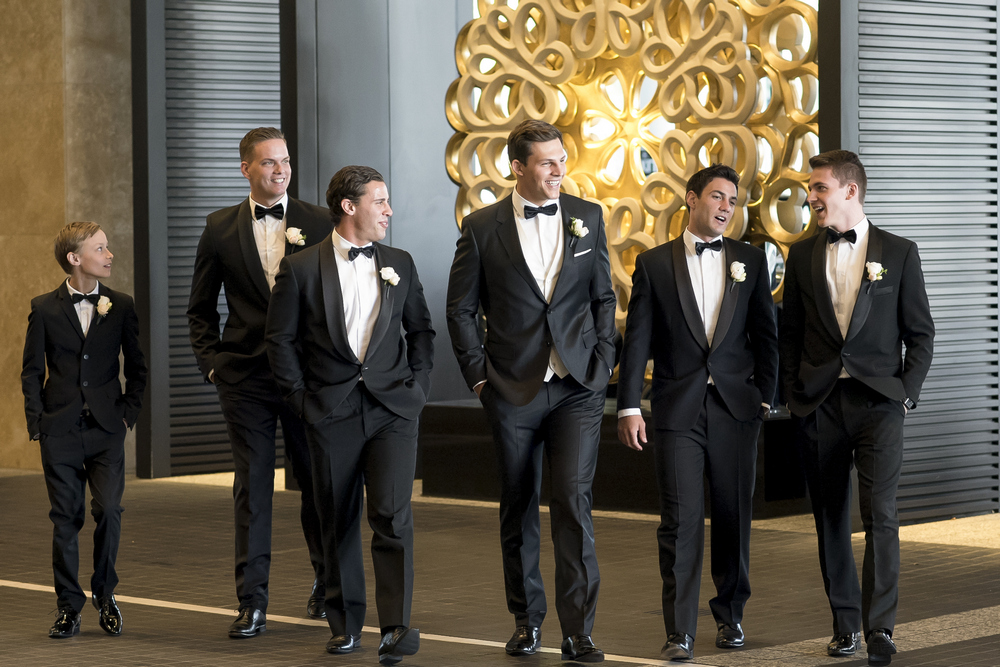 Groom and groomsmen's suits by Armani for a glamour wedding | I take you - UK wedding blog