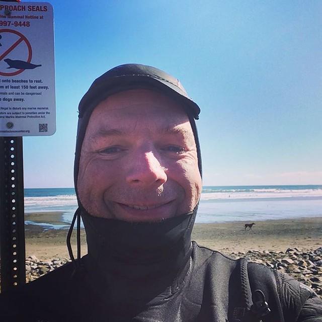Apres-surf smile time