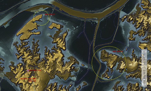 香取内海の渡河点推定