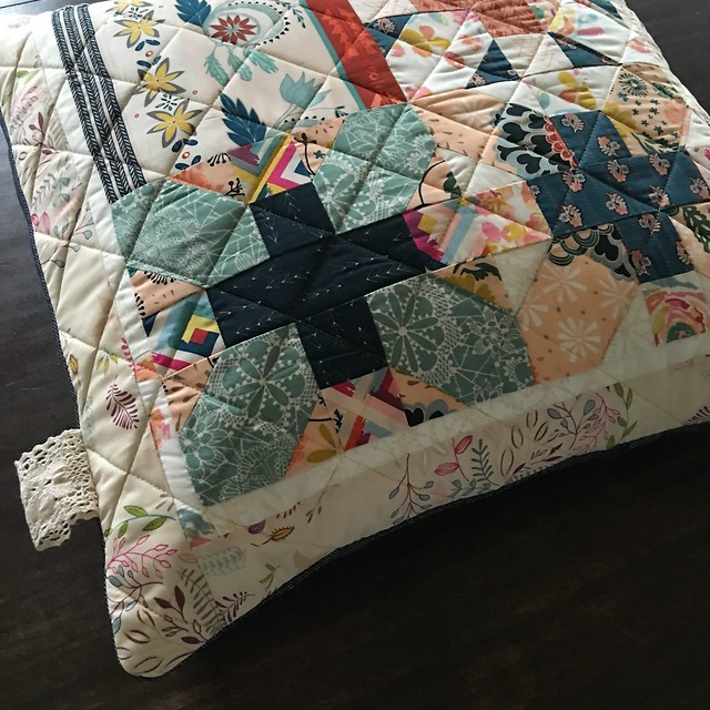 Fleet & Flourish Pillow ~ Heather Bostic