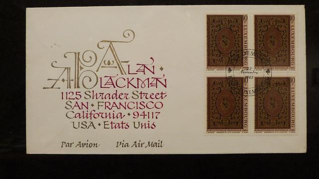 A12246 / calligrapher alan a blackman at the san francisco main library