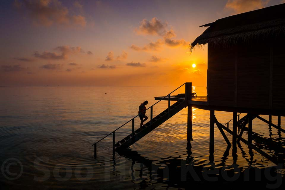Maldives Sunrise @ Centara Ras Fushi Resort & Spa Maldives.