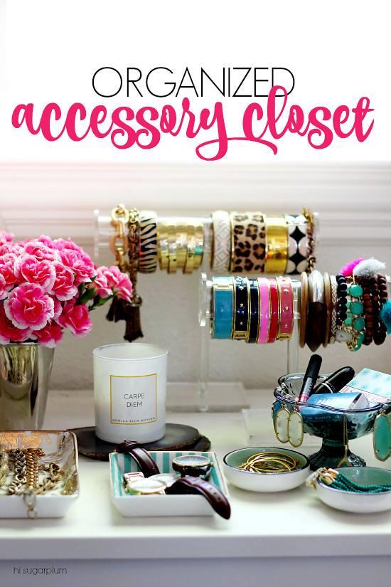 Hi Sugarplum | Organized Accessory Closet
