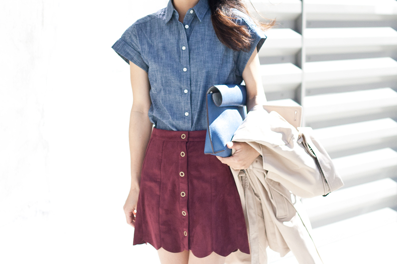 10bananarepublic-chambray-kylie-kendall-scallop-suede-skirt-sf-style-fashion