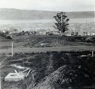 Stuart Street Extension looking down towards the Harbour  1952