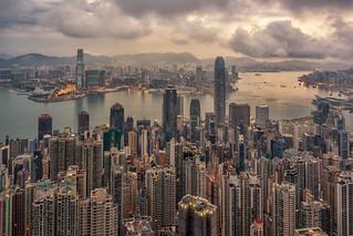 New day at the Peak, Hong Kong