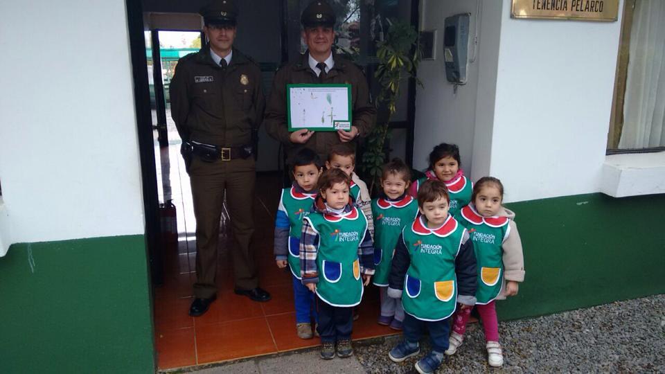 Día del carabinero 2016 - saludo del Jardín Infantil