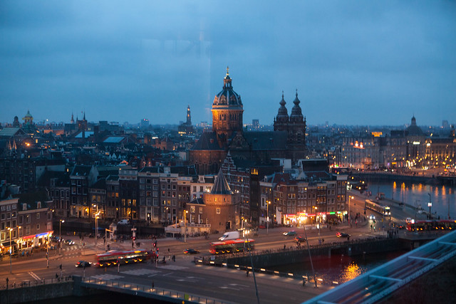 View of Central Amsterdam (looking south)