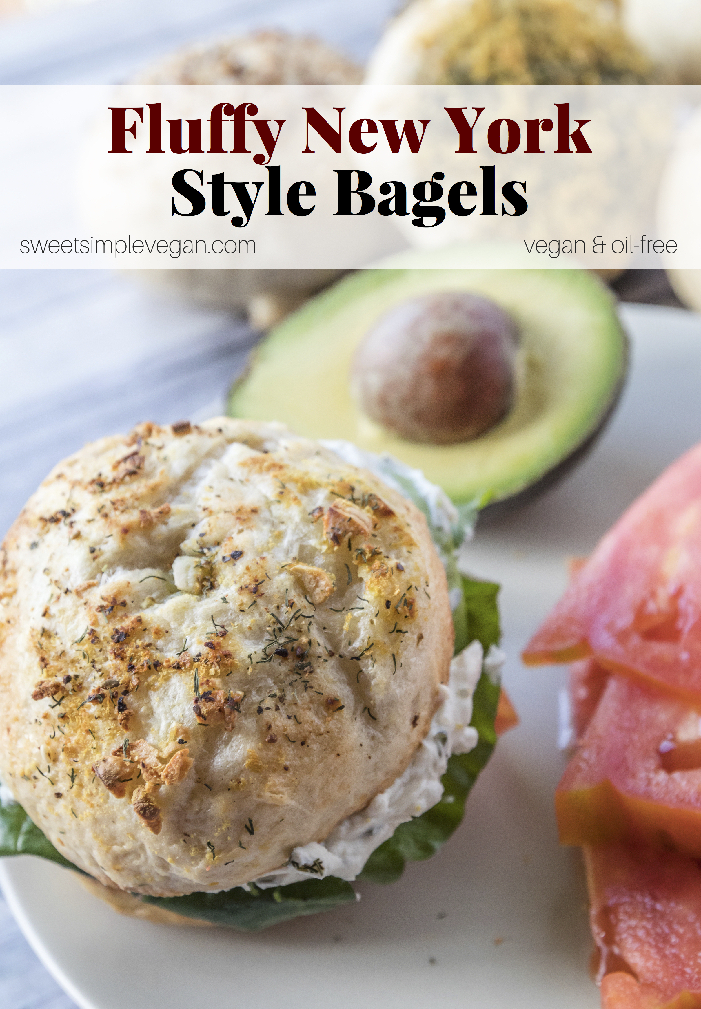 Fluffy New York-Style Bagels (vegan, oil-free) sweetsimplevegan.com