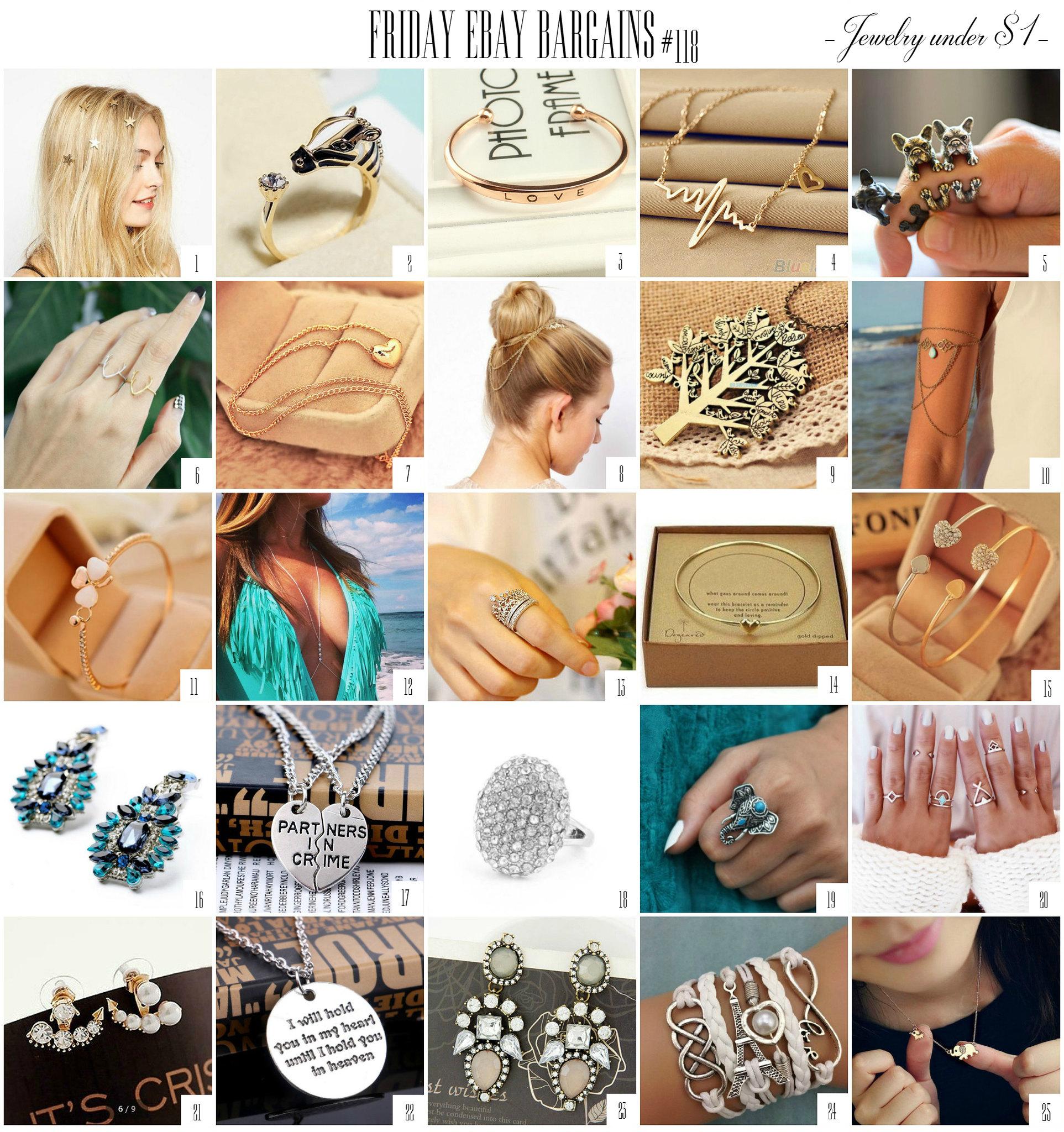 Ebay jewelry bargains under $1