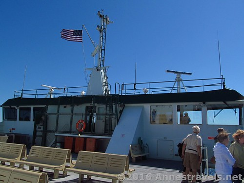 On deck behind the wheelhouse, Port Townsend Ferry across the Puget Sound, Washington