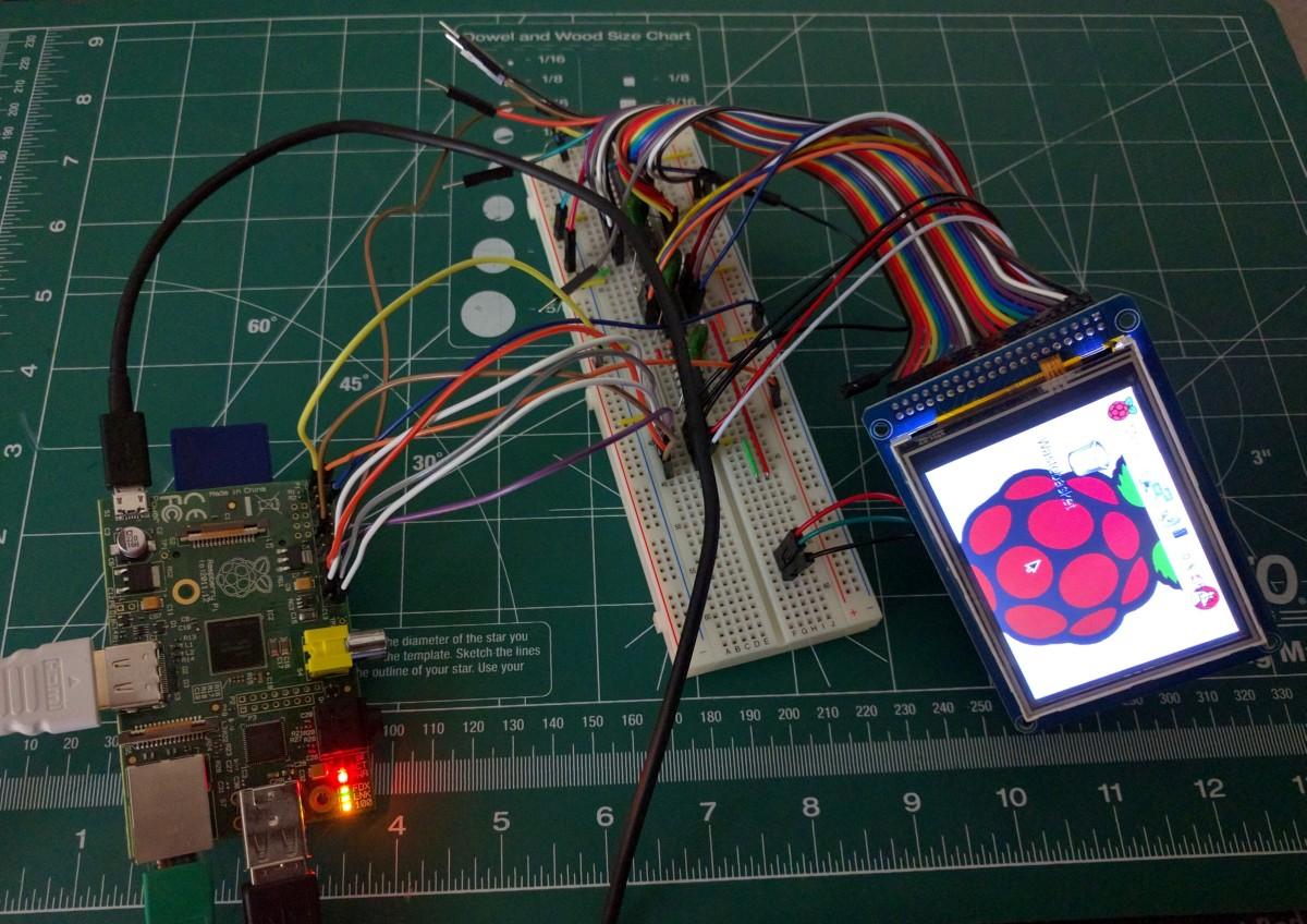 TFT LCD + Touchscreen + Raspberry Pi + FBTFT