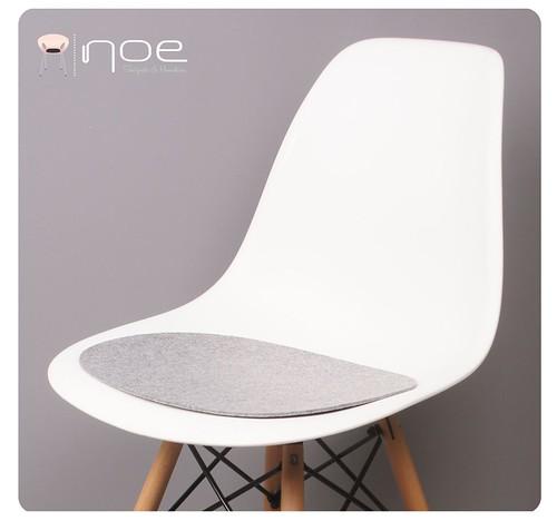 eco filz auflage geeignet f r eames sidechair dsw dsr dsx. Black Bedroom Furniture Sets. Home Design Ideas