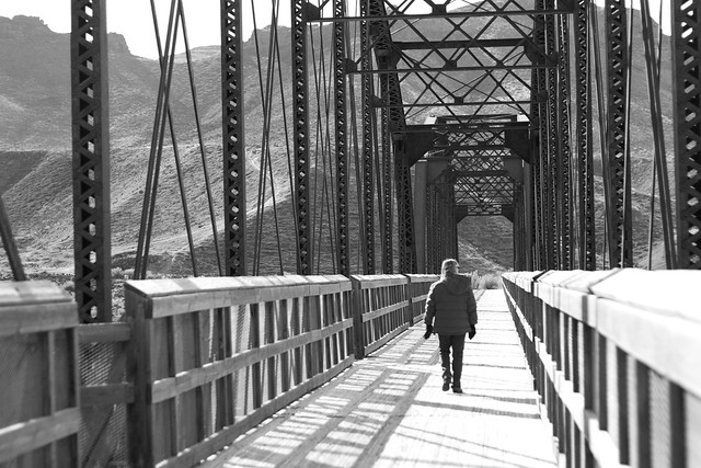 Snake River Bridge, Idaho - BW