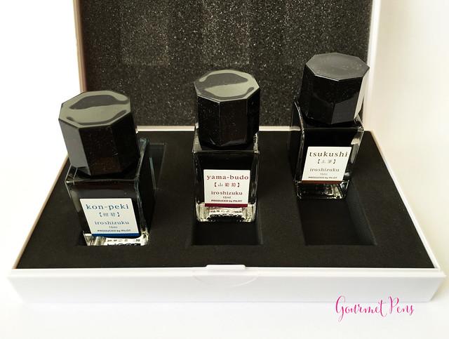 Ink Shot Pilot Iroshizuku Mini Boxed Set - Kon-Peki, Tsukushi & Yama-Budo (27)