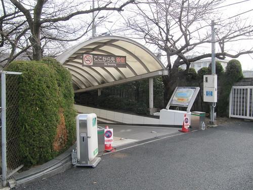 京都競馬場の駐車場からの道