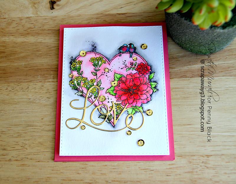 Love card flat