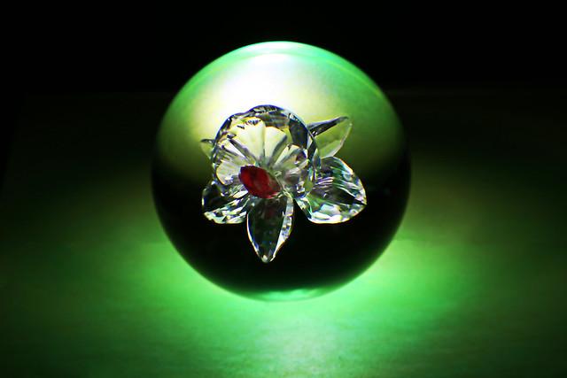 Crystal Ball with Crystal Blossom