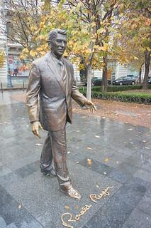 Ronald Regan statue in Szabadsag, Budapest