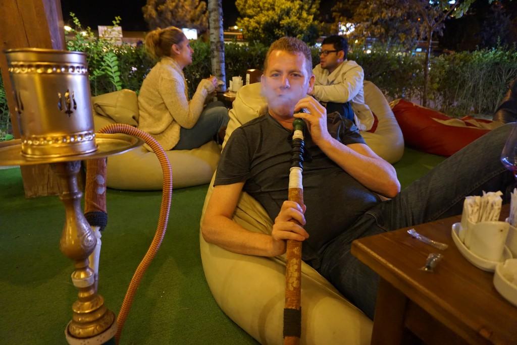 Smoking a Shisha