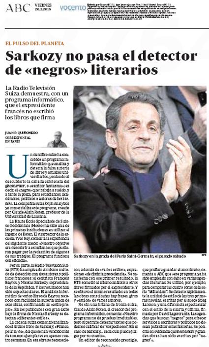 16b25 Sarkozy no pasa el detector de negros literarios