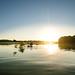Canoeing at sunset, Mazuria
