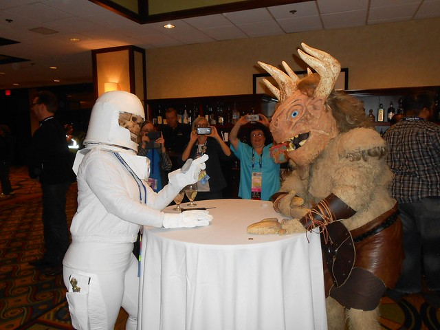 Vashtu Nerada and Minotaur Enjoying Drinks