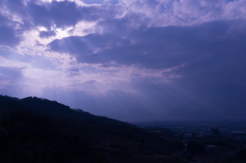 みたまの湯から見た富士川町付近の風景