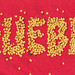 tipografia creada con semillas de ají dulce