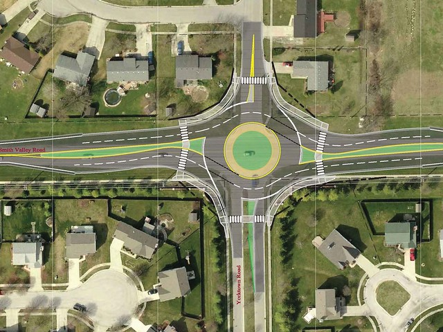 Smith Valley & Yorktown Roundabout, Greenwood, IN