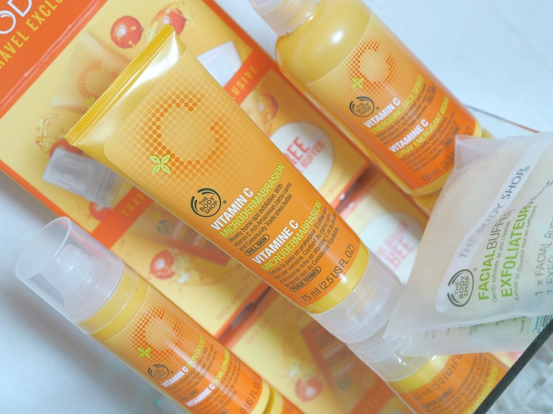 The Body Shop traveling bag vitamin C