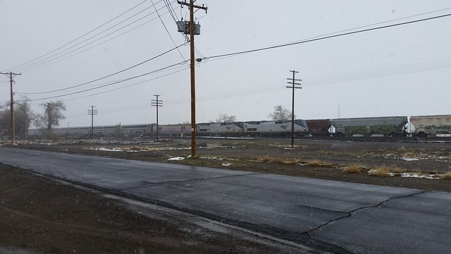 Amtrak East in the Snow