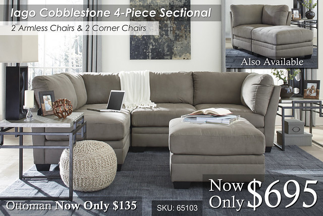 Iago Cobbleston 4 Piece Sectional