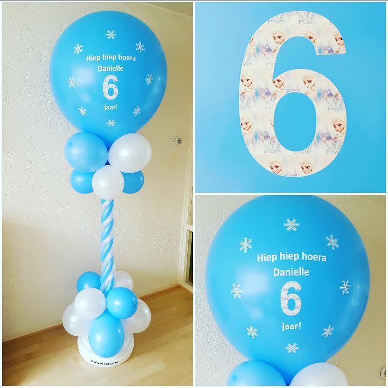 Ballonpilaar Bedrukt Persoonlijke Tekst Verjaardag Frozen Flickr