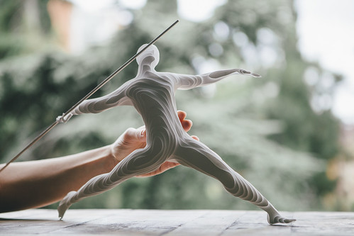 Paper Sculpture Javelin Thrower by Raya Sader Bujana