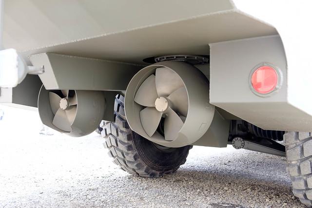 94式水際地雷敷設装置のスクリュー