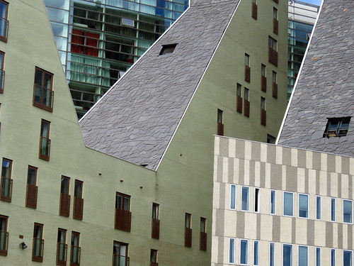 Geometric Architecture in Rotterdam, Holland