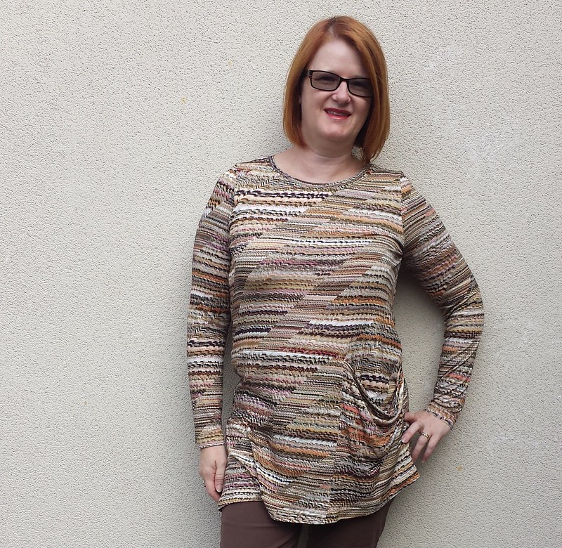 Style Arc Pearl top in viscose lycra knit from Tessuti