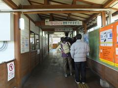 下曽我駅の改札口には、梅まつりの時季になるとSuicaの処理(現金精算)をする人で長い行列ができる。東海道線から1駅入っただけの神奈川県内の駅だが、会社が変わってSuicaが使えないので、予め切符を買って行こう。