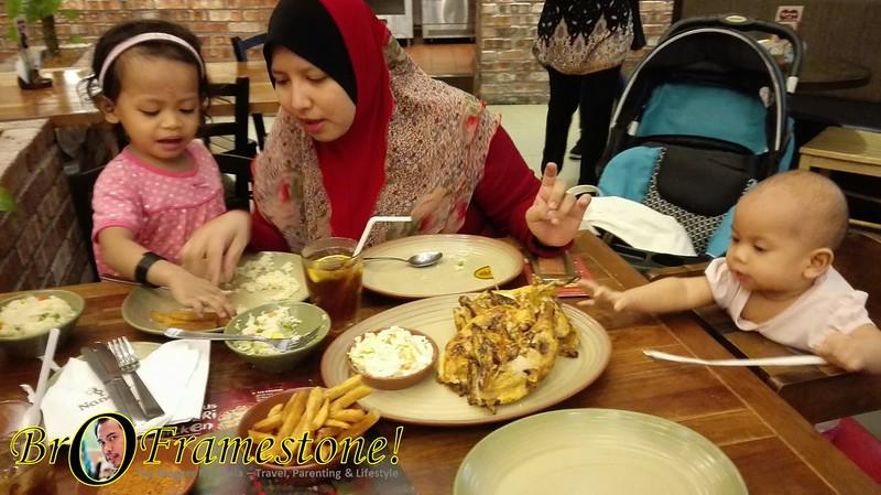 Dinner at Nando's AEON Rawang