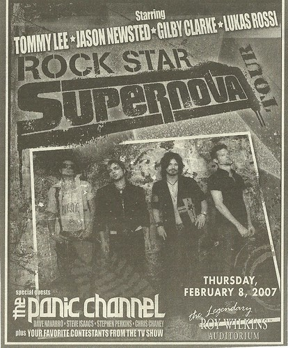 02/08/07 Rock Star Supernova/ The Panic Channel @ Roy Wilkins Auditorium, St. Paul, MN