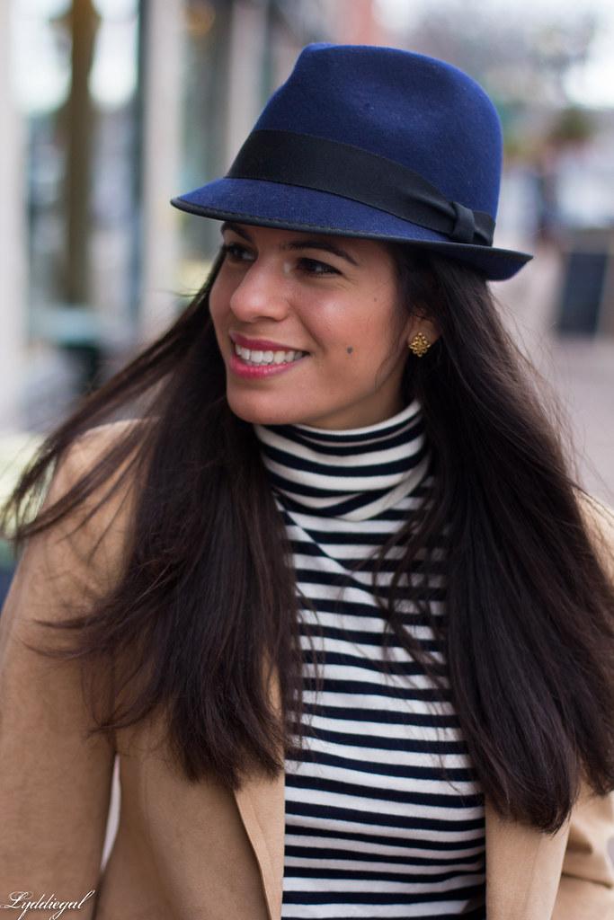 Striped shirt, camel blazer, denim, fedora-5.jpg